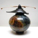 Smoke-fired vessel by Geoff Searle