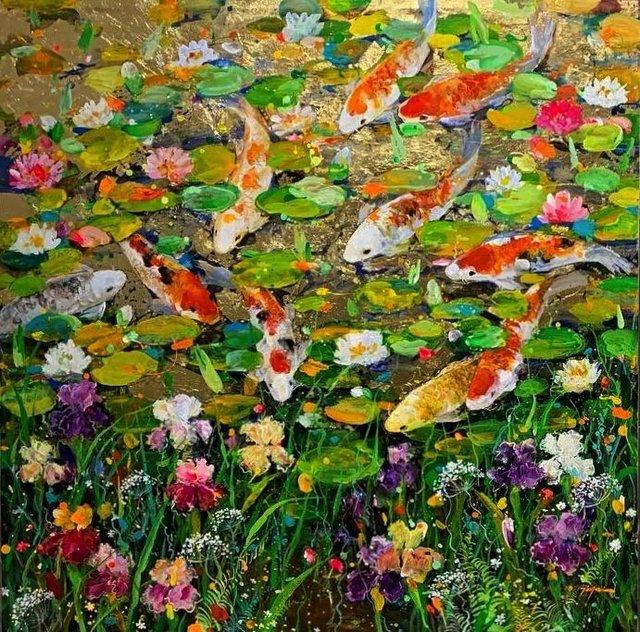 "Tinyan Chan, ""The Golden Pond,"" 2020"