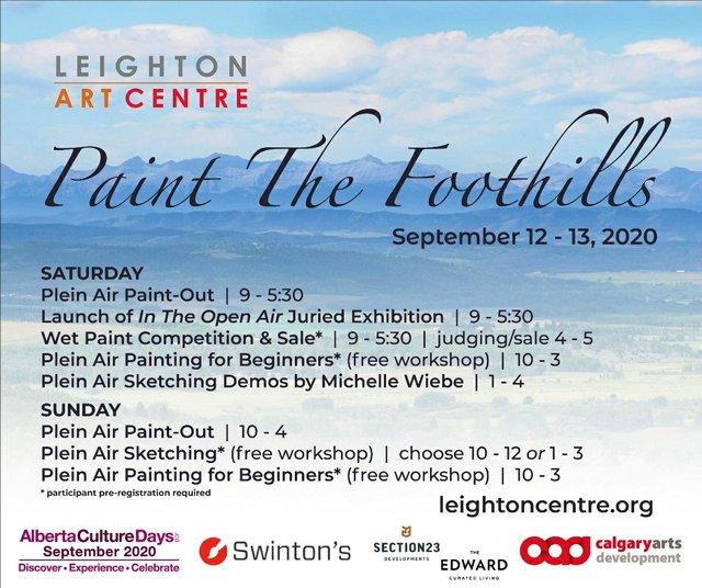 "Leighton Art Centre, ""Paint the Foothills,"" 2020"