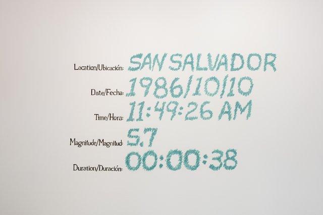 """Michelle Campos Castillo, """"Terremoto,"""" 2020, installation view (courtesy of the artist)"""