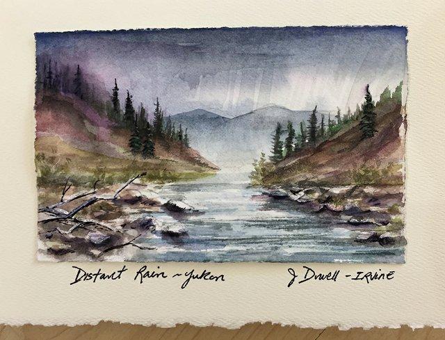 "Jackie Dowell Irvine, ""Distant Rain, Yukon,"" 2020"