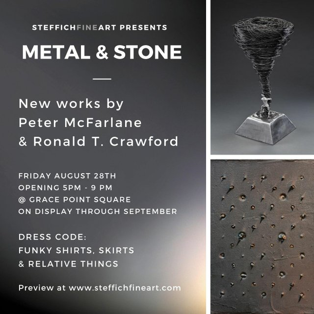 "Peter McFarlane & Ronald T. Crawford, ""Metal & Stone,"" 2020"