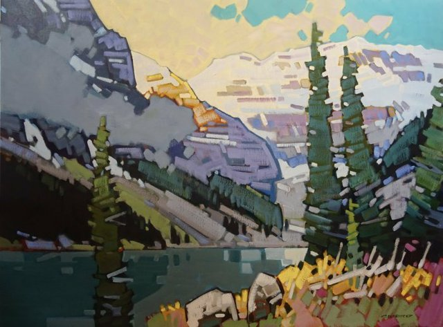 "Cameron Bird, ""Drama at Lake Louise,"" 2020"