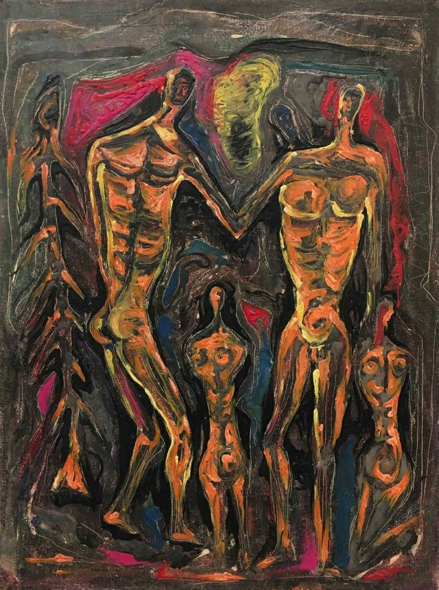 "Clifford Foard Robinson, ""Untitled - Figures,"" circa 1952"