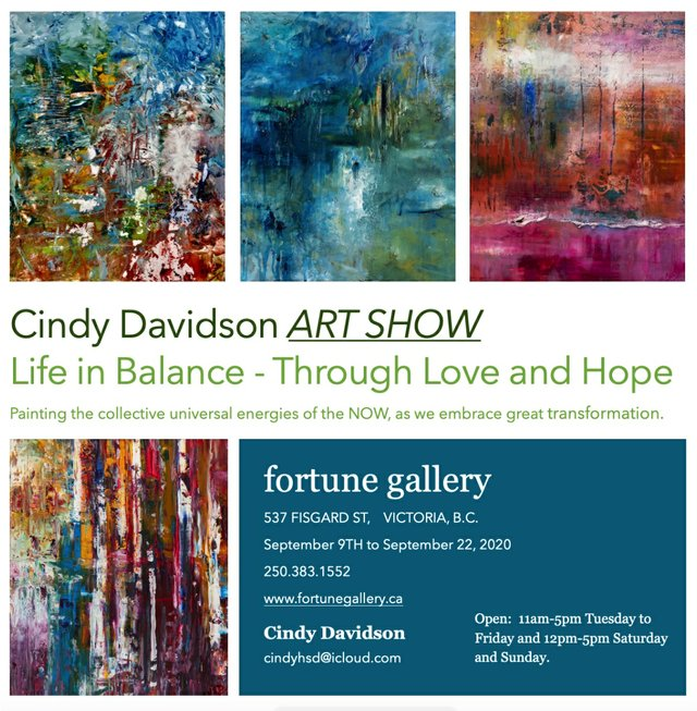 """Cindy Davidson, """"Life in Balance - Through Love and Hope,"""" 2020"""