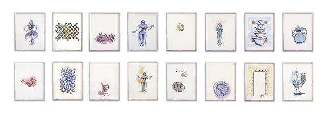 """Carroll Taylor Lindoe, """"Image Poem,"""" 1985"""