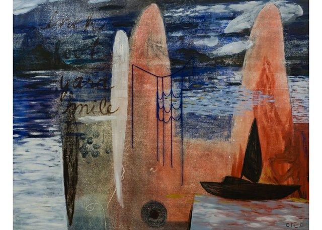 """Carroll Taylor Lindoe, """"Inch,Foot, Yard, Mile,""""2001"""