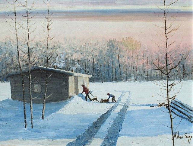 "Allen Sapp, ""Back Home,"" nd"