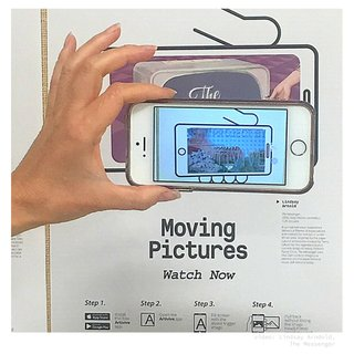 """Moving PIctures"" poster (photo by Art Gallery of Regina)"