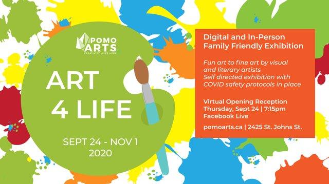 "PoMoArts Centre, ""Art 4 Life,"" 2020"