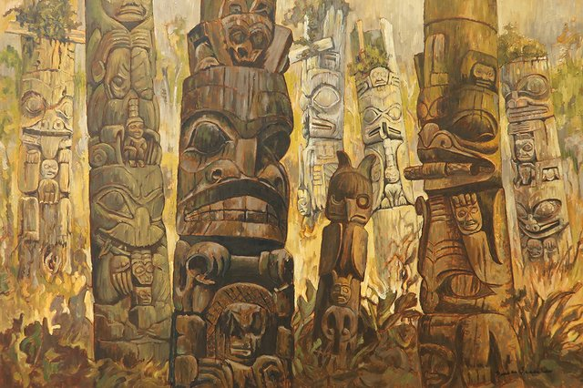 """Nell Bradshaw, """"Totem Pole Collection II,"""""""