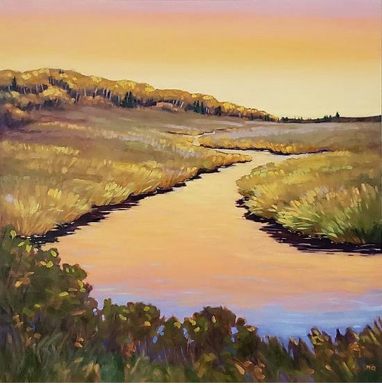 """Nicki Ault, """"Early Morning, Spruce River,"""" 2020"""