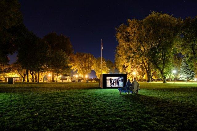 Luminocity Installation view at Riverside Park, 2018