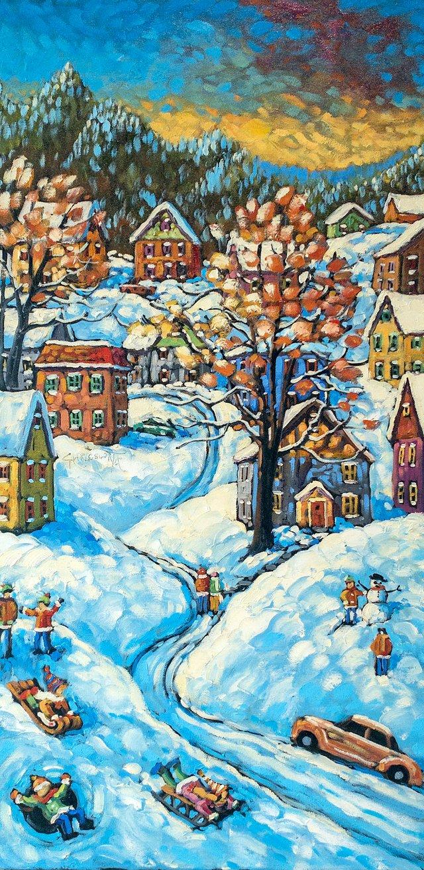 Winter Fun, Early Snow 30x15 Charlesworth.jpg