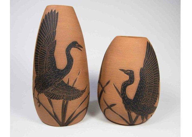 "Susie Kathol, ""Heron Vases,"" 2020"