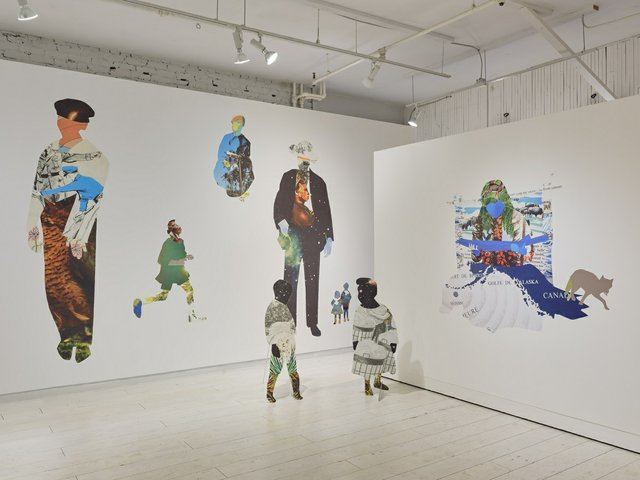"""Anna Binta Diallo,""""Wanderings,"""" 2020, installation view at Access Gallery (photo by Rachel Topham Photography)"""