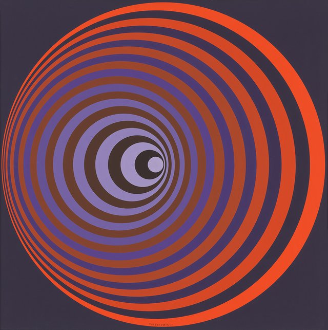"Victor Vasarely, ""OERVENG,"" 1968"