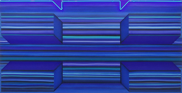 "Joan Balzar, ""Blue Neon,"" 1967"