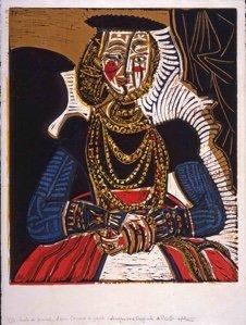 """Pablo Picasso, """"Portrait de Jeune Fille d'après Cranach le Jeune 11,"""" 1958"""
