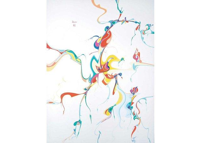 "Alex Janvier, ""Birds of China,"" 1985"