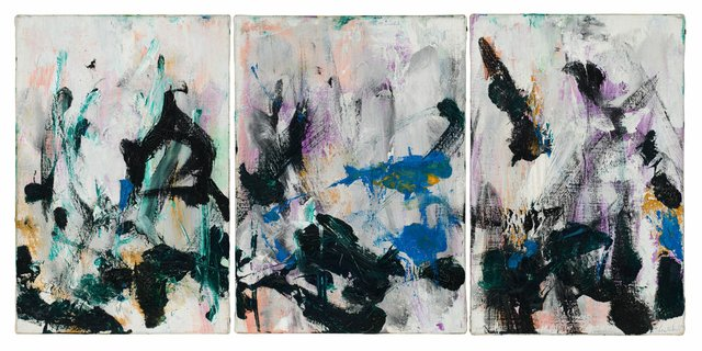 """Joan Mitchell, """"Untitled,"""" triptych, no date"""