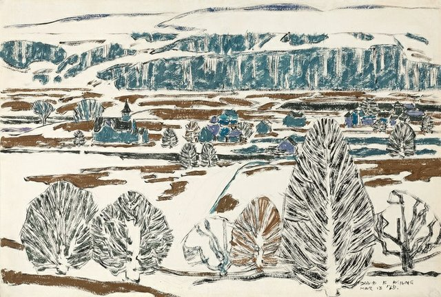"David Milne, ""Fox Hill on a Rainy Day (Boston Corners),"" 1920"