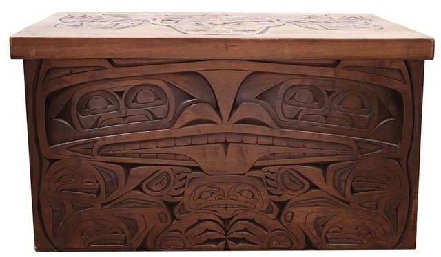 """Unkown Artist, """"20th Century Carved Chest,"""" no date"""