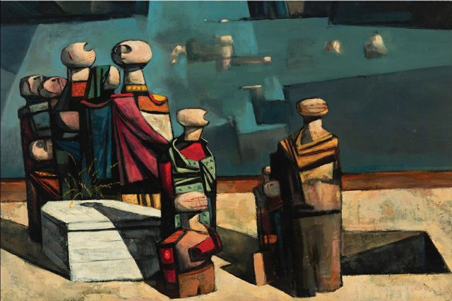 """Kenneth Campbell Lochhead, """"The Burial,"""" 1953"""