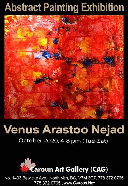 """Venus Arastoo Nejad, """"Red and Blue,"""" 2020"""