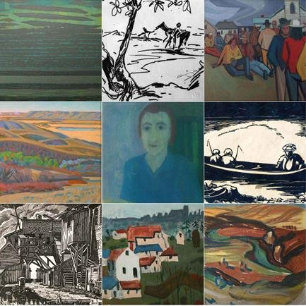 Collectors Collage of Paintings