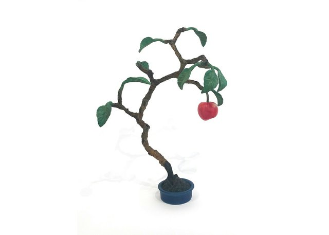 """Regina's Slate Fine Art Gallery features a group show that includes longtime favourites like Victor Cicansky, whose patinated bronze """"Apple Bonsai"""" is pictured here."""