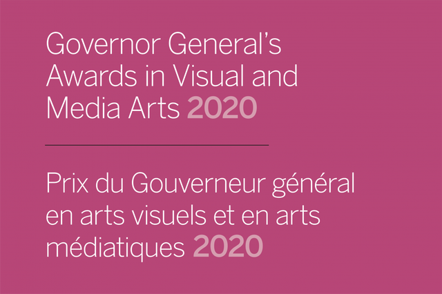 "Art Gallery of Alberta, ""Governor General's Awards in Visual and Media Arts 2020,"""