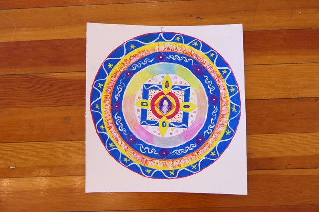 Creating a personal mandala may help ease stress. (courtesy Canadian International Institute of Art Therapy)