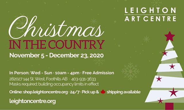 """Leighton Art Centre, """"Christmas in the Country,"""" 2020"""