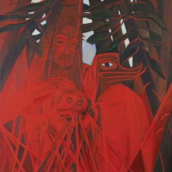 "Joane Cardinal-Schubert, ""In the Garden,"" nd"