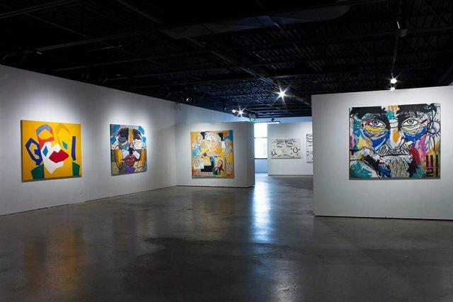 An installation view of Bîstyek's exhibition in Winnipeg. (photo by Tayler Buss)