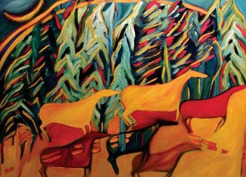 "Joane Cardinal-Schubert, ""Noon Dance,"" nd"