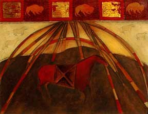 "Joane Cardinal-Schubert, ""Red Horse,"" nd"