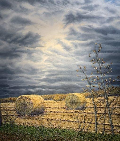 """Elaine Mulder, """"Harvest Finished before the Storm,"""" 2020"""