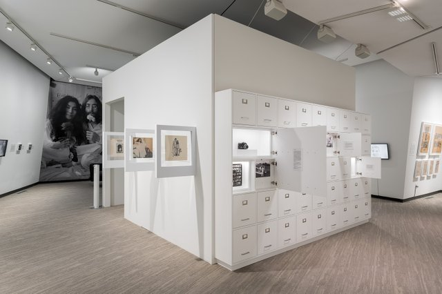 """Yoko Ono, """"Growing Freedom, The instructions of Yoko Ono and The art of John and Yoko,"""" installation view at Contemporary Calgary, 2020 (photo by BlaineCampbell)"""