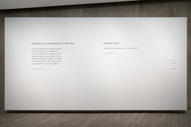 """Yoko Ono, """"Painting to be Constructed in Your Head,""""1962/2020"""