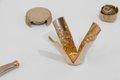 "JesseGray,""Mesomonuments: Ex-situ,"" 2020, beach plastic cast in bronze, dimensions variable (photo by Dennis Ha)"