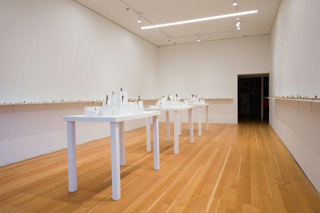 "JesseGray,""Mesomonuments,""2020,installation view at Artspeak, Vancouver (photo by Dennis Ha)"