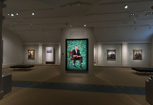 Kehinde Wiley's portrait of Barack Obama was installed on Feb. 13, 2018