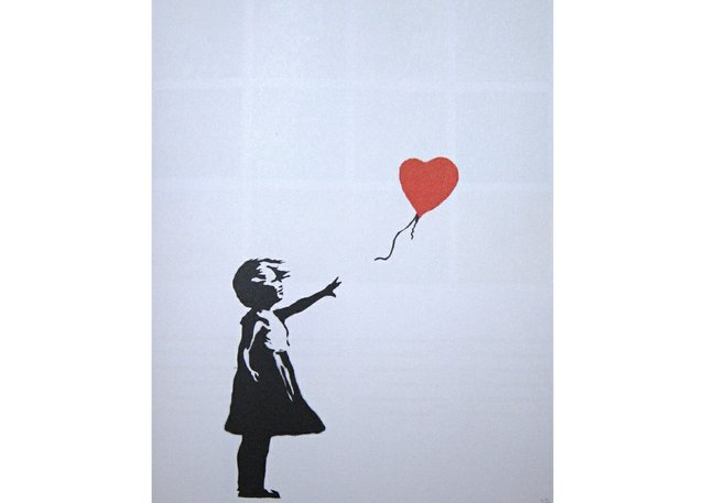 "Banksy, ""Girl With Red Balloon,"" 2004"
