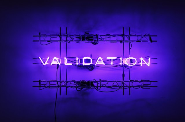 """Dick Averns, """"Recognition… Validation…Reassurance…,"""" 2017"""