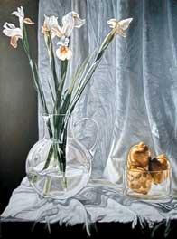 """White Irises and Lemons"""