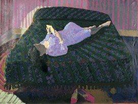 "Jack Wilkinson, ""Girl In Blue Flowered Nightgown,"" 1972-75"