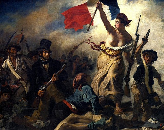 "Eugène Delacroix painted ""Liberty Leading the People"" to commemorate the July Revolution of 1830"