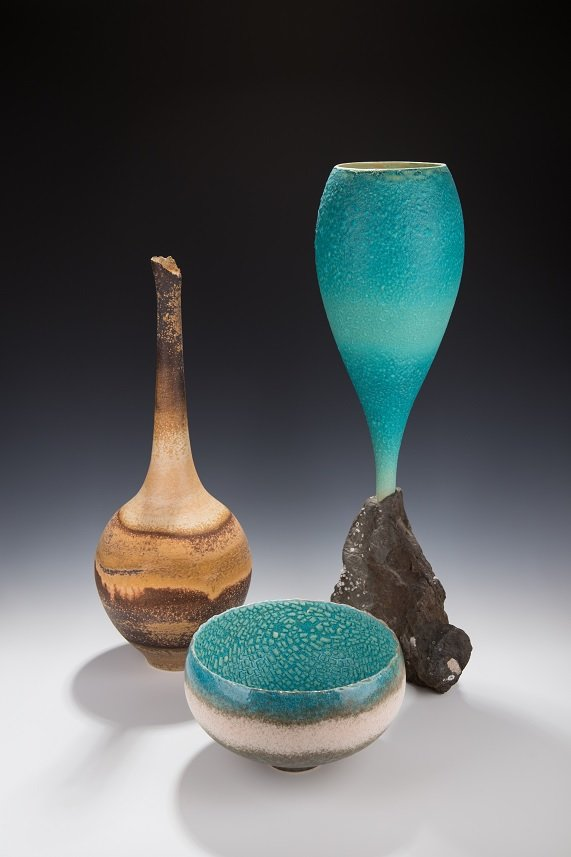 Work by Mary Fox, a potter in Ladysmith, B.C. (courtesy Circle Craft, Vancouver)